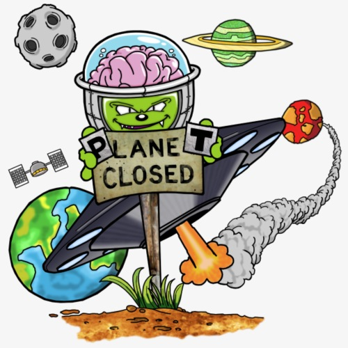 Planet Closed - Männer Premium T-Shirt