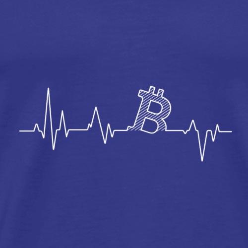 Heartbeat BTC - Männer Premium T-Shirt