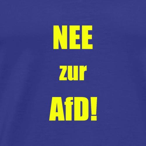 NEEzur AFD simpel gelb - Männer Premium T-Shirt
