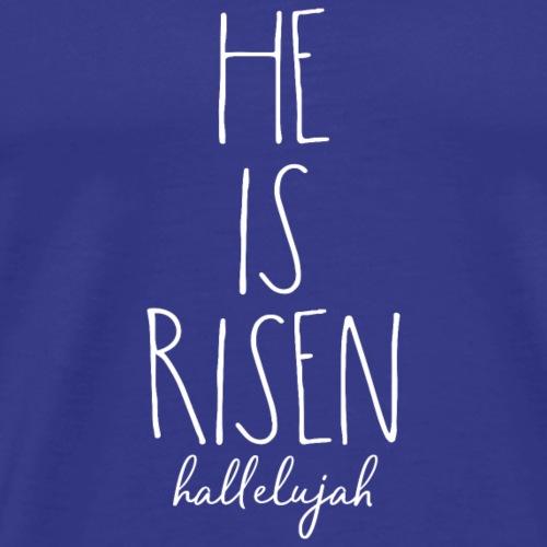 He is risen christliches christen Jesus Geschenk - Männer Premium T-Shirt