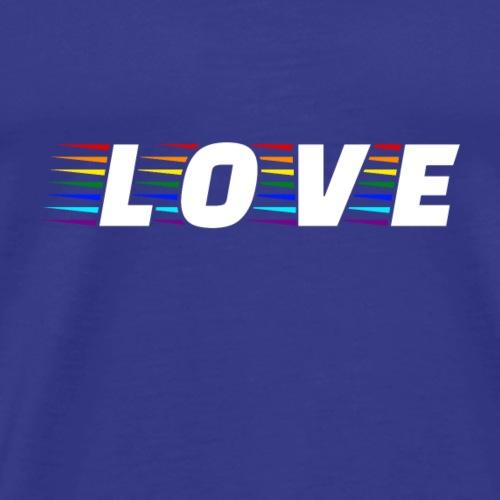 Rainbow Love LGBT Pride - Männer Premium T-Shirt