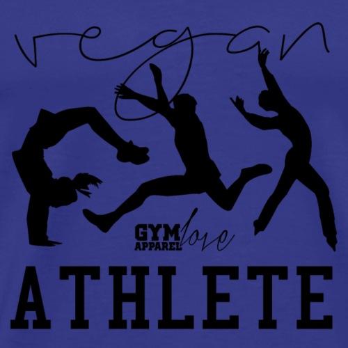 Vegan Athlete (Black) - Männer Premium T-Shirt