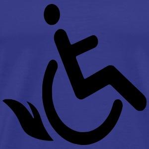 Wheelchairflame1 - Mannen Premium T-shirt
