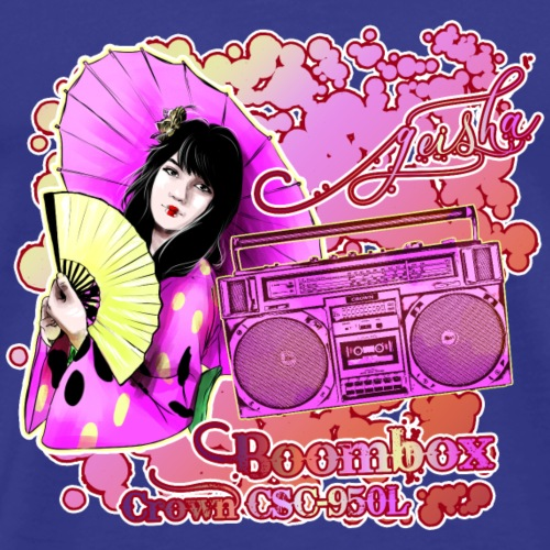 Boombox CROWN CSC 950L with Geisha Japan - Männer Premium T-Shirt