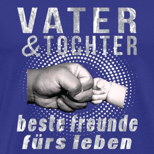 vater tochter beste freunde furs leben Vatertag, - Männer Premium T-Shirt