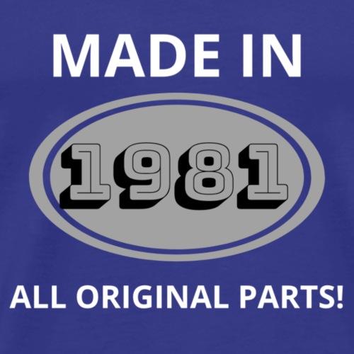 1981 Geburtstag Tshirt - Männer Premium T-Shirt