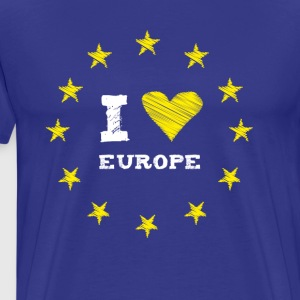 I Love europe Star Heart Stick eu no Proposed referendum on United Kingdom membership of the European Union circle l - Men's Premium T-Shirt