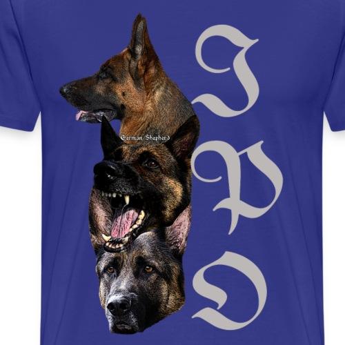 Hundekopf,Hundegesicht,Schaeferhund,Schäferhunde, - Männer Premium T-Shirt