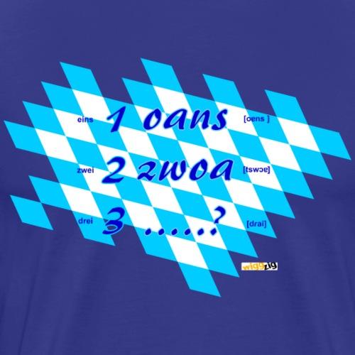 oans zwoa gsuffa ? - Männer Premium T-Shirt