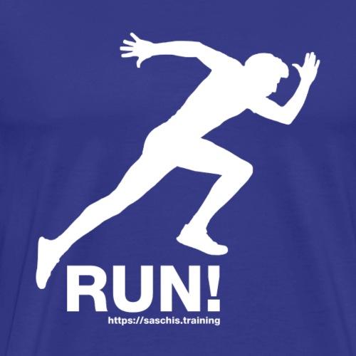 RUN - Laufen - Running - Marathon - Männer Premium T-Shirt