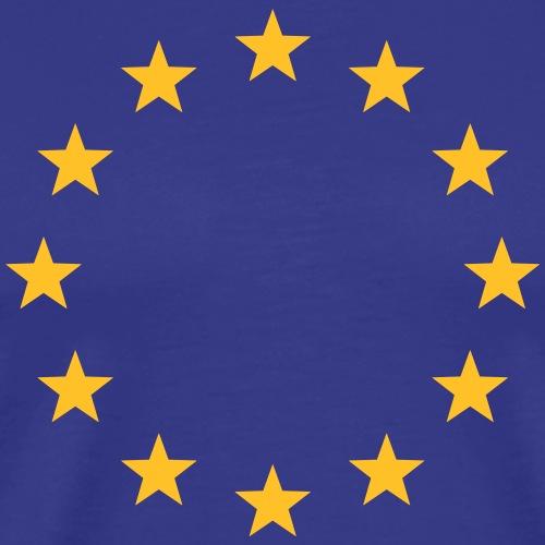 Europa Symbol Zeichen Formen Sterne EU Gelb Blau - Männer Premium T-Shirt
