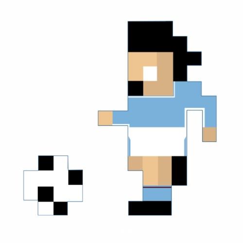 8-Bit Series - Manchester City 17/18 - Men's Premium T-Shirt