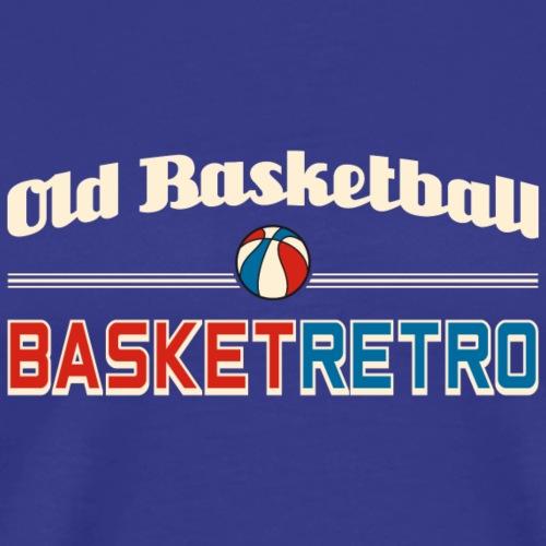 Old basketball fond fonce ue - T-shirt Premium Homme