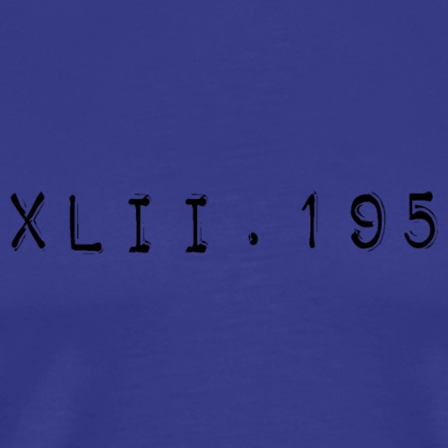 42.195 marathon - T-shirt Premium Homme