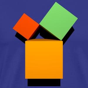 Satz des Pythagoras 3D - Männer Premium T-Shirt
