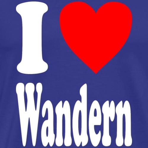 I love Wandern - Männer Premium T-Shirt