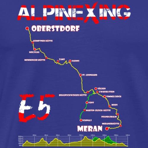 E5 Oberstdorf Meran - Männer Premium T-Shirt