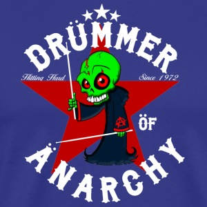 Insane Drummer - Drummer of Anarchy - Mannen Premium T-shirt
