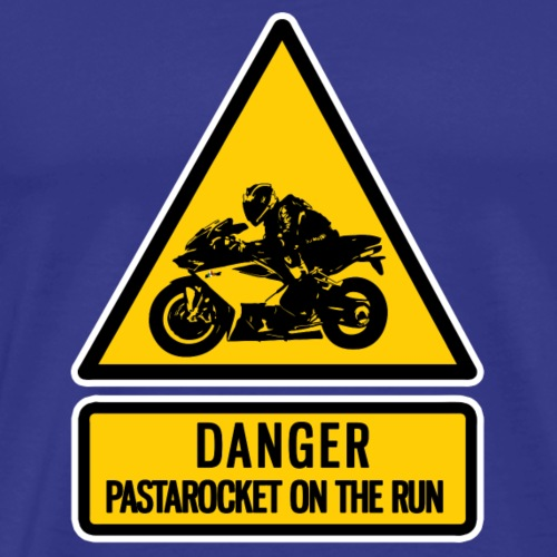 danger: pastarocket on the run - Men's Premium T-Shirt