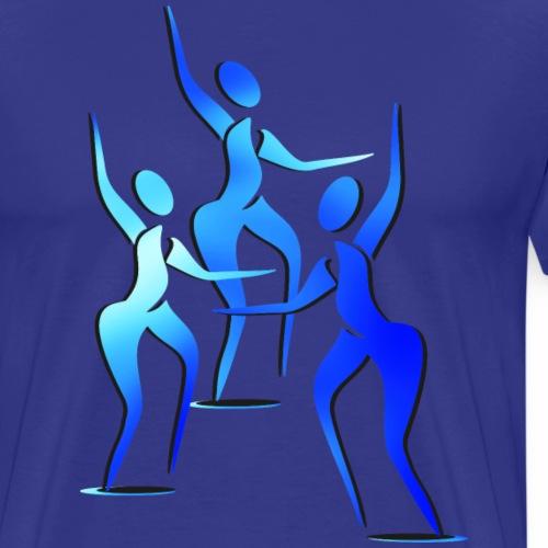 Trio siluetas 2 - Camiseta premium hombre