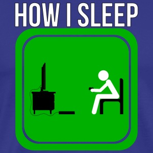 How A Gamer Sleeps by JuiceMan Benji - Men's Premium T-Shirt