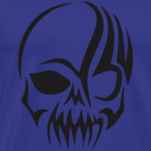Tribal Totenkopf - Männer Premium T-Shirt