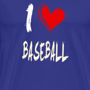 I Love Baseball - Premium T-skjorte for menn