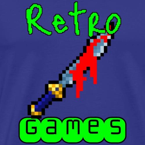 Retro Games Säbel - Männer Premium T-Shirt