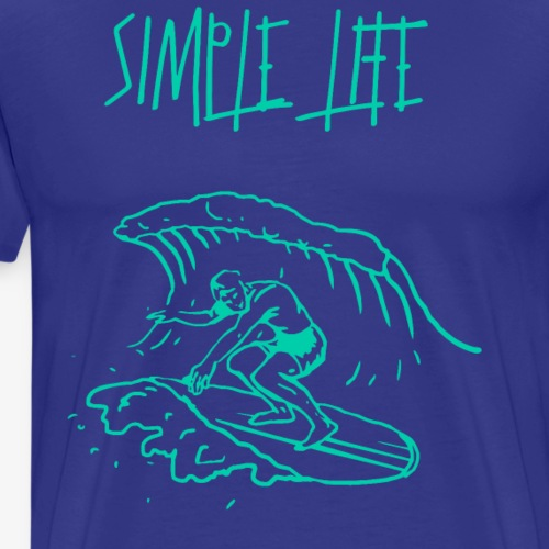 Simple Simple surfing - Männer Premium T-Shirt