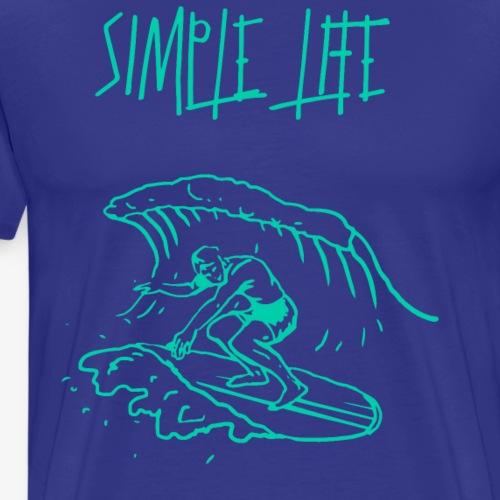 Simple Simple surfing - Männer Premium T-Shirt