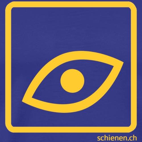 Schild «Auge», gelb - Männer Premium T-Shirt