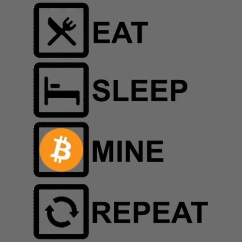 Eat Sleep Mine Repeat schwarz - Männer Premium T-Shirt