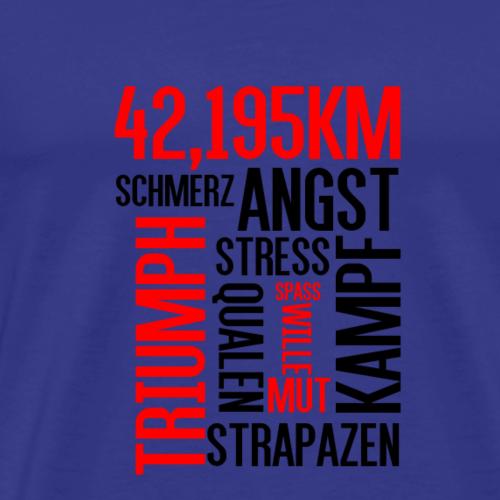 Wordcloud Marathon - Männer Premium T-Shirt