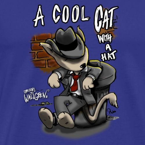 A Cool-Cat-With-A-Hat - Men's Premium T-Shirt