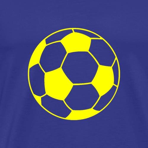 Fußball gelb - Männer Premium T-Shirt