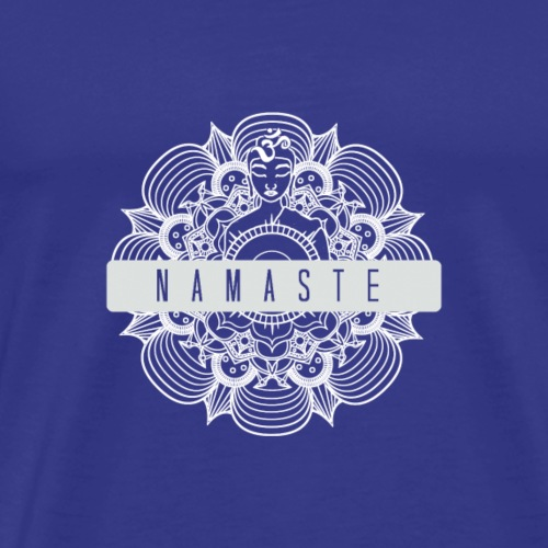 Namaste blanc - T-shirt Premium Homme