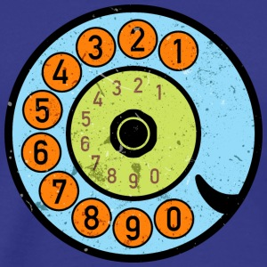 Dial phone Vintage Retro phone Pop Art - Men's Premium T-Shirt