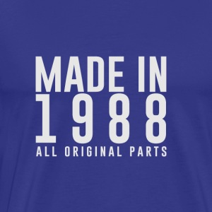 MADE IN 1988 - alle originele PARTS - Mannen Premium T-shirt
