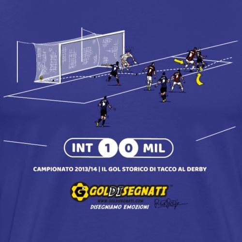 INT-MIL 1-0 Il Gol storico di tacco al derby - Maglietta Premium da uomo