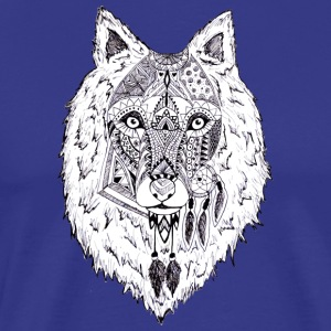 Hand drawn pattern WOLF - Men's Premium T-Shirt