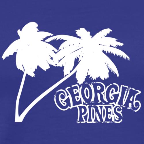 Georgia Pines Band Shirt Logo Palmen weiss frei - Männer Premium T-Shirt