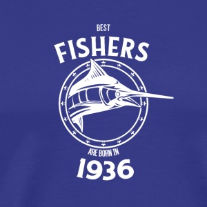 Present for fishers born in 1936 - Männer Premium T-Shirt