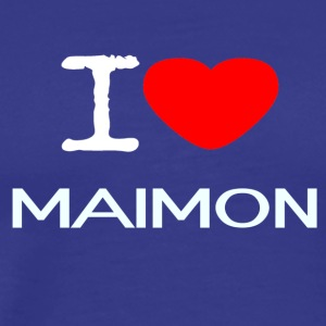 I LOVE Maimon - Premium T-skjorte for menn
