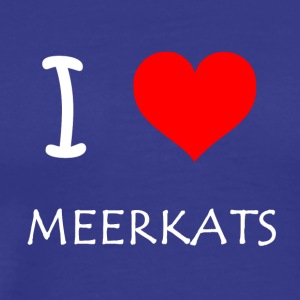 I Love Meerkats - Men's Premium T-Shirt