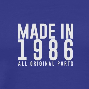 MADE IN 1986 - GEBOORTEJAAR - Mannen Premium T-shirt