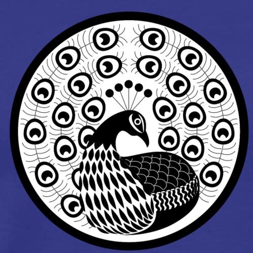 Japanese motif Peacock - Men's Premium T-Shirt