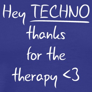 techno Therapy - Premium-T-shirt herr