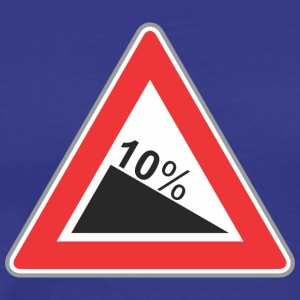 Road Sign 10 procent vinkel - Herre premium T-shirt