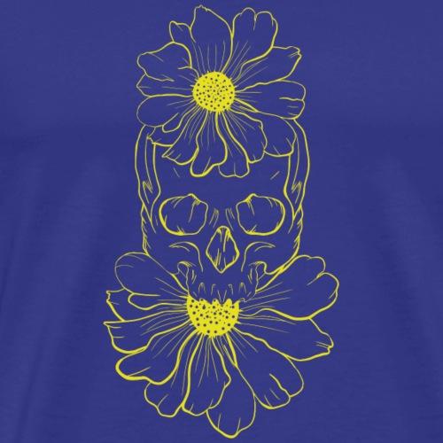 Flores craneo - Camiseta premium hombre