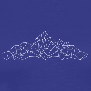 Mountains polygon hvid - Herre premium T-shirt